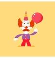 Unhappu Clown Holding Balloon vector image