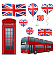 United Kingdom set vector image vector image