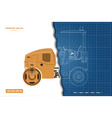vibratory roller in outline style vector image vector image