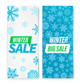 winter sale banners with snowflakes set vector image
