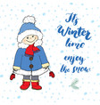 winter season lettering quote handwritten vector image
