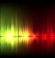 yellow-red wave abstract equalizer background vector image