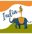 Yoga girl meditation on the indian elephant India vector image vector image