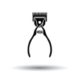 Pet cutting machine icon vector image