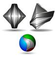 3d symbol creative design set vector image
