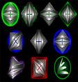 3d symbol creative design set1 vector image vector image