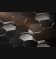 abstract 3d luxury hexagonal structure pattern vector image vector image