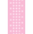 Abstract pink textile dots vertical seamless vector image