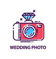 abstract wedding photography logo template vector image