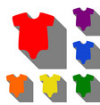 baby cloth set of red orange vector image vector image