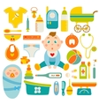 Baby Health Decorative Icons Set vector image vector image