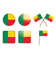badges with flag of Benin vector image vector image