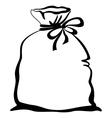 bag empty pictogram vector image