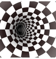 Black and white spiral tunnel vector image vector image