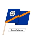 Bophuthatswana Ribbon Waving Flag Isolated on vector image vector image