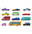 bus and cars design objects vector image