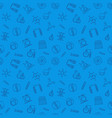 chemistry blue seamless pattern in outline vector image vector image