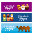 christmas banners with the three wise men and vector image vector image