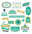 circus vintage badges magic circus carnival retro vector image