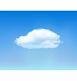 Cloud on blue sky vector image
