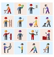 Construction worker icons flat vector image vector image