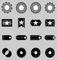 Create web icons on gray background vector image vector image