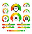 credit score indicators speedometer goods gauge vector image