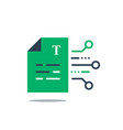 document terms and conditions vector image vector image