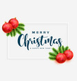 elegant merry christmas greeting background vector image vector image