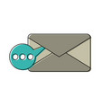 envelope mobile messaging icon image vector image vector image