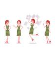 female clerk positive emotions vector image
