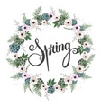 floral background spring background with vector image vector image