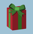 gift xmas icon cartoon style christmas day vector image vector image