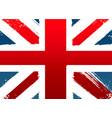 grunge flag england vector image
