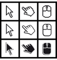 hands cursors vector image vector image