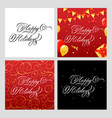 happy holidays banners set vector image vector image