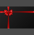 holiday christmas red gift silk bow vector image