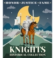 Knight Poster vector image vector image