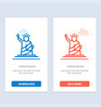 landmarks liberty of statue usa blue and red vector image