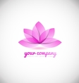 Lotus flower spa logo icon design vector image vector image