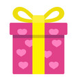 love present flat icon valentines day vector image vector image