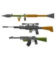 Machine gun sniper rifle set vector image vector image