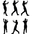 man silhouette in stop push pose vector image