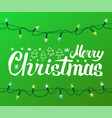 merry christmas greeting text spruce fir new year vector image vector image