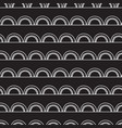 monochrome doodle arches seamless pattern vector image vector image
