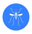 Mosquito icon in black style isolated on white vector image vector image