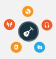Multimedia icons set collection of earphone