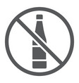 no alcohol glyph icon drink and warning alcohol vector image vector image