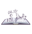 Open book tale of Pinocchio vector image vector image