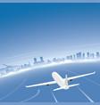 oslo skyline flight destination vector image